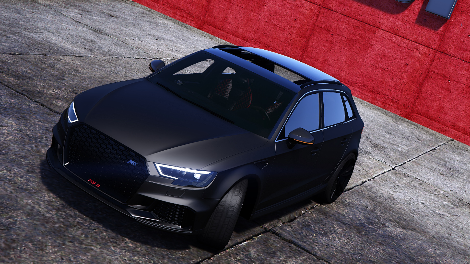 audi rs3 sportback 2018 add on tuning wheel abt gta5. Black Bedroom Furniture Sets. Home Design Ideas