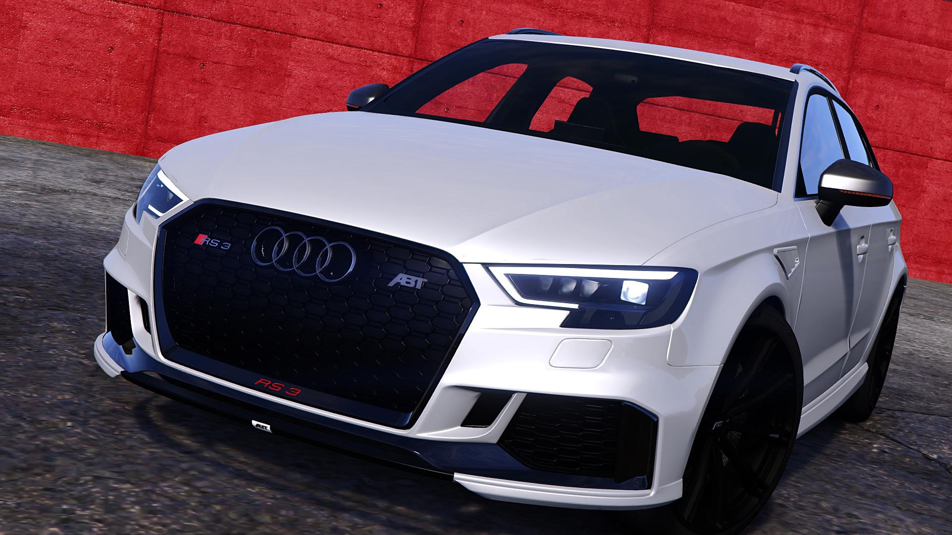 Audi Rs3 Sportback 2018 Add On Tuning Abt Gta5 Mods Com