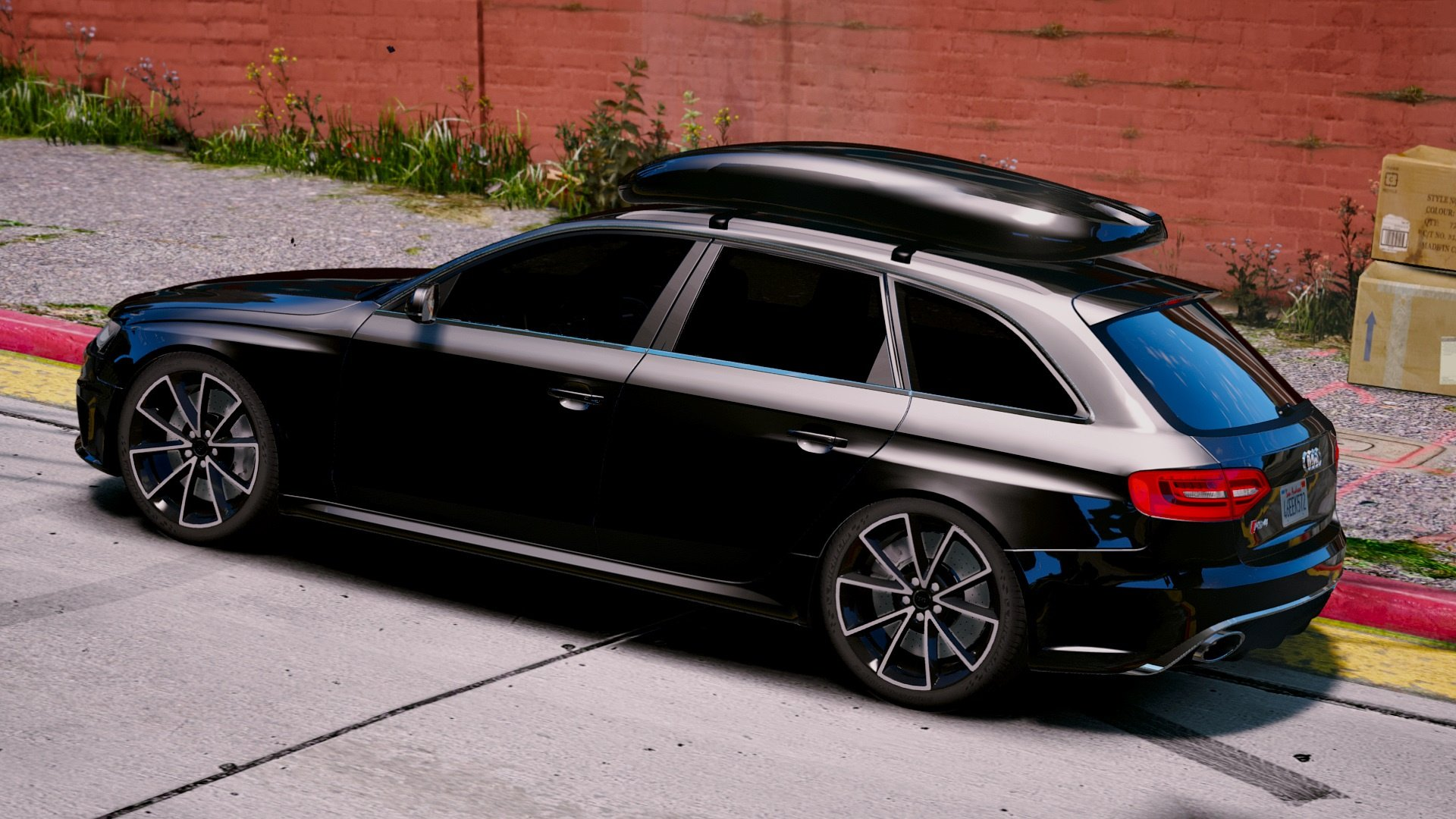audi rs4 avant 2013 add on tuning gta5. Black Bedroom Furniture Sets. Home Design Ideas