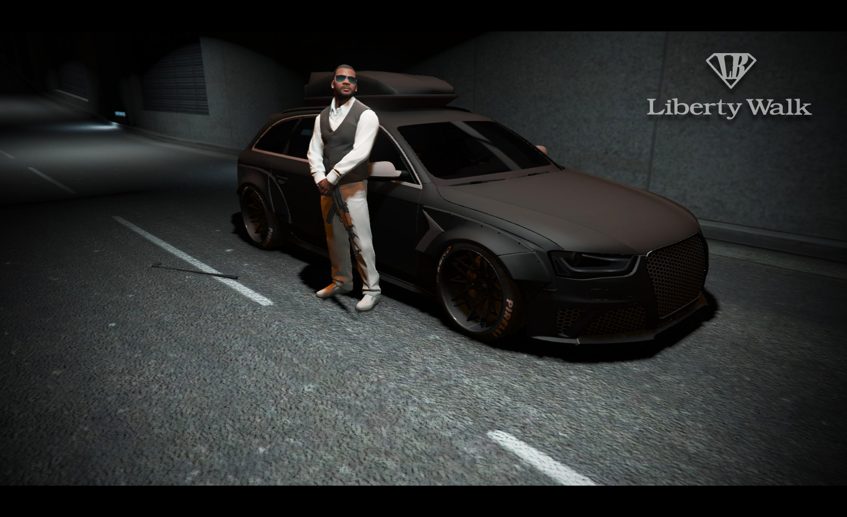 Audi Rs4 Liberty Walk Add On Replace Gta5 Mods Com