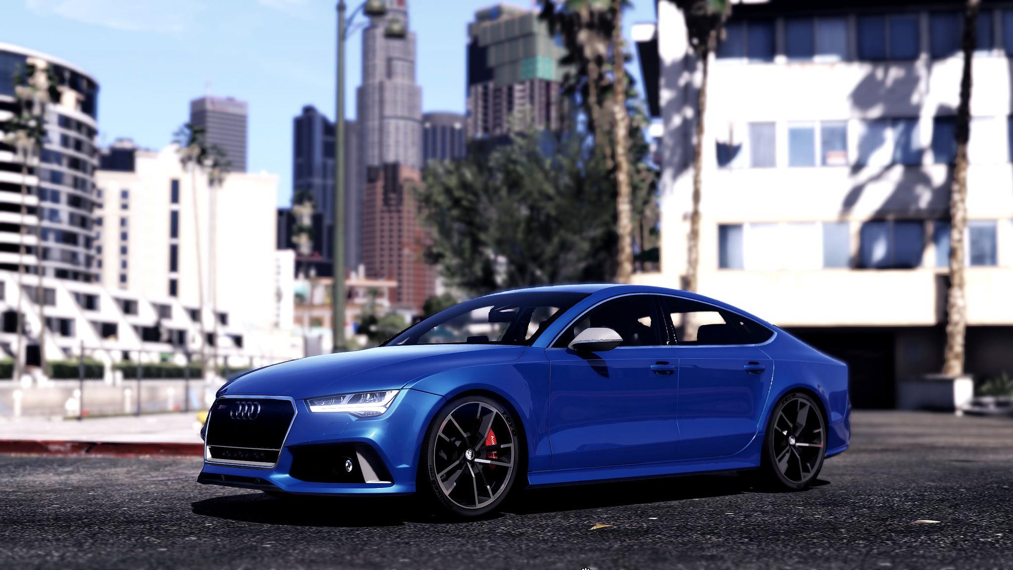 2015 Audi Rs7 Sportback Add On Replace Gta5 Mods Com