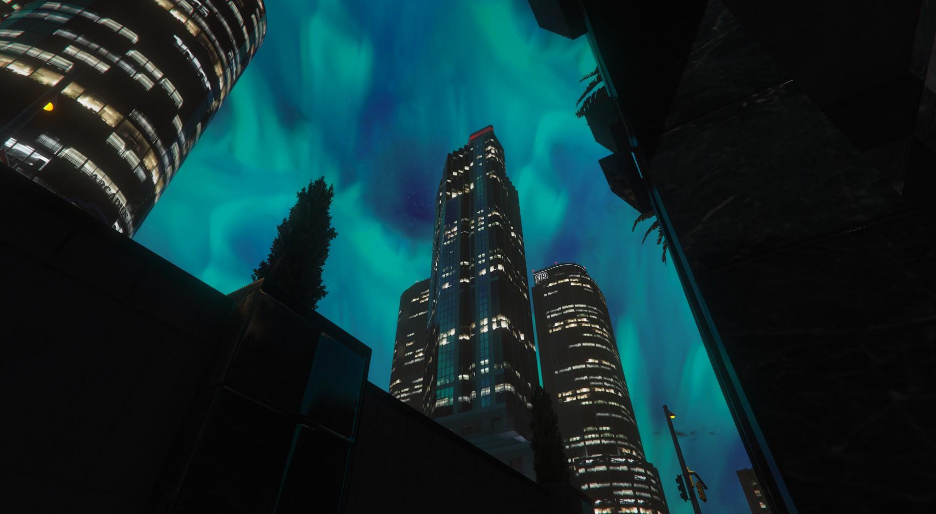Aurora Borealis Sky 2K - GTA5-Mods com