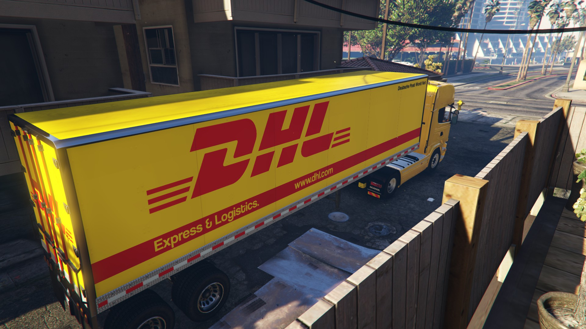 austrian trailer advertisments trucks cars post dhl dachser usw sterreich gta5. Black Bedroom Furniture Sets. Home Design Ideas