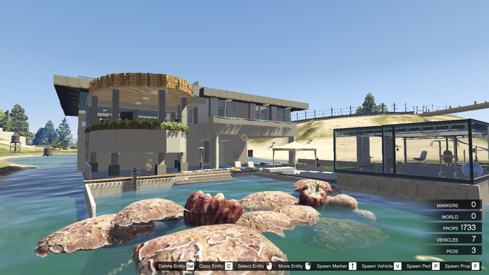 Avery 39 S Luxury Lake House With Drawbridge Gta5