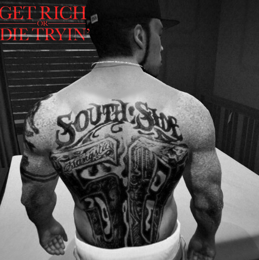 Back tattoo south side 50 cent gta5 for 50 cent back tattoo