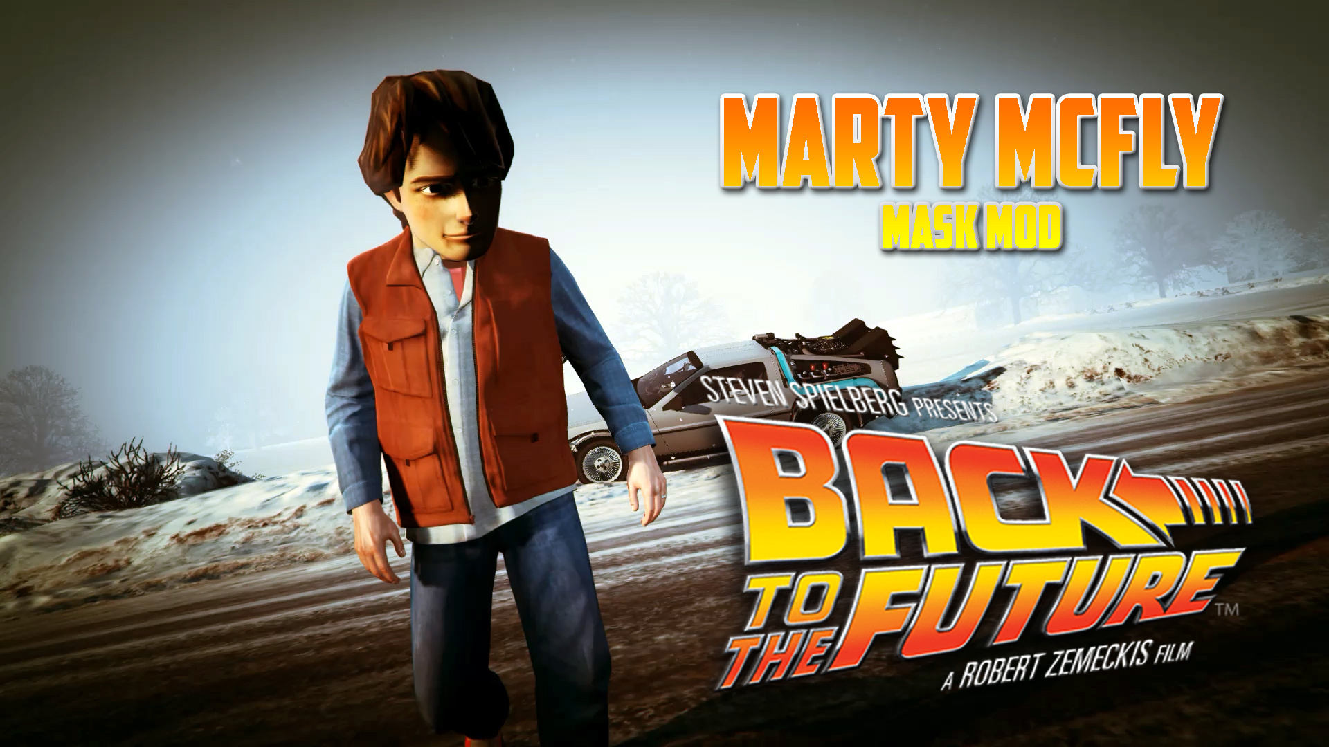 back to the future marty mcfly mask gta5. Black Bedroom Furniture Sets. Home Design Ideas
