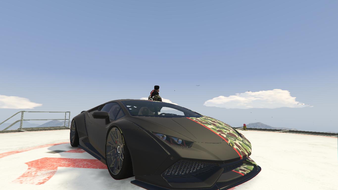 Bape Paint Job For Lamborghini Huracan Lp 610 Gta5 Mods Com