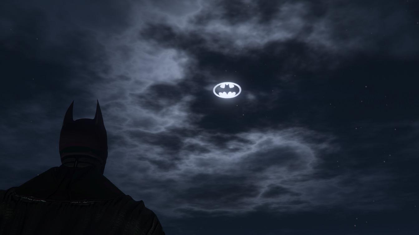 Bat Signal Moons Gta5 Mods Com