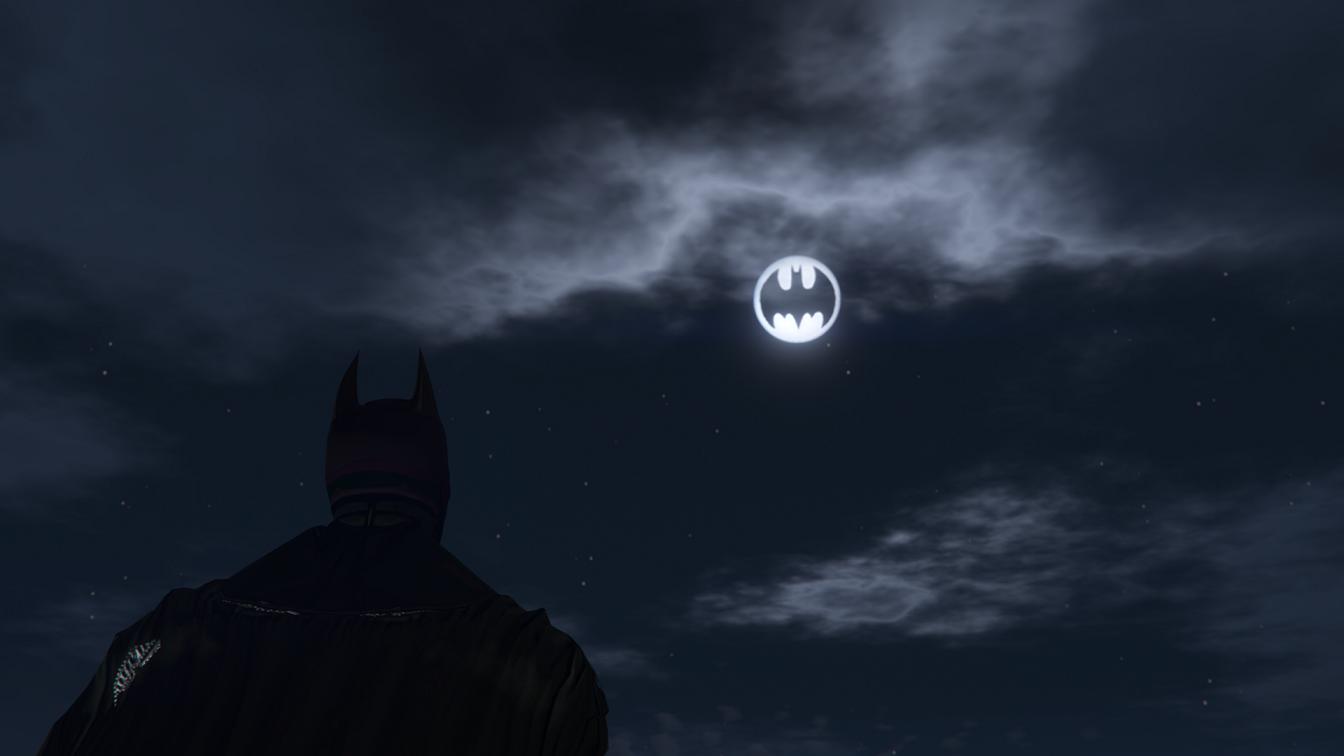 Bat Signal Moons Gta5 Mods