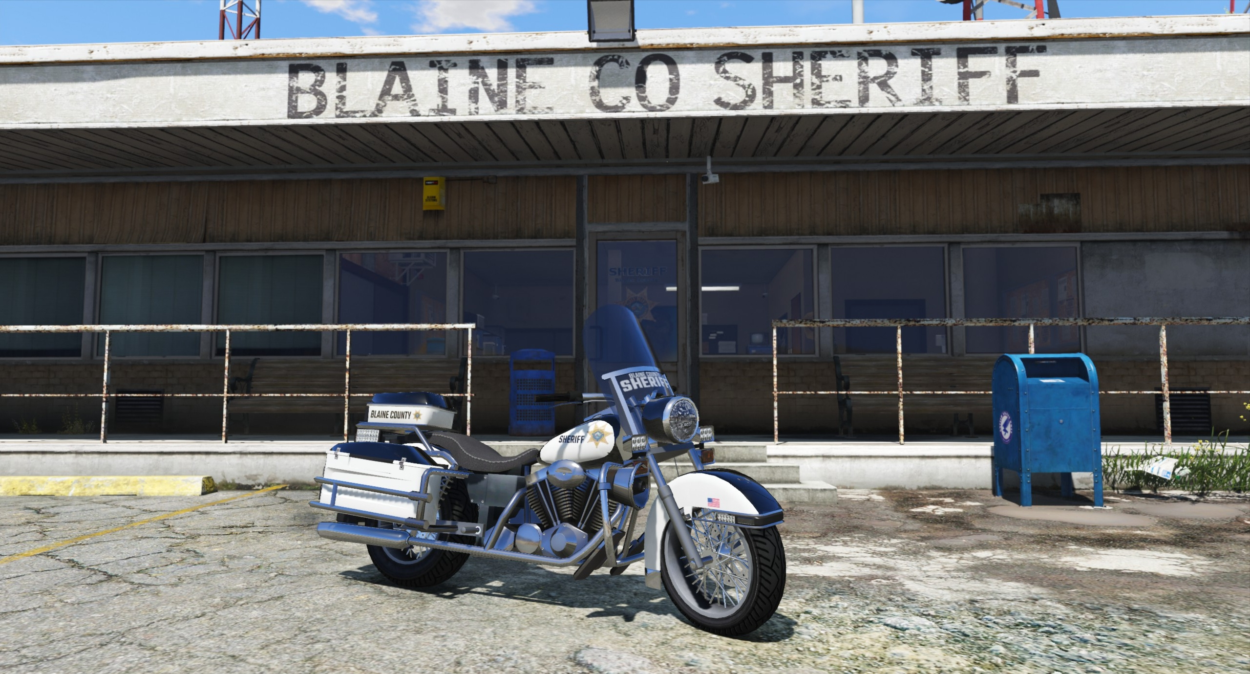 BCSO Police Motorcycle - GTA5-Mods com