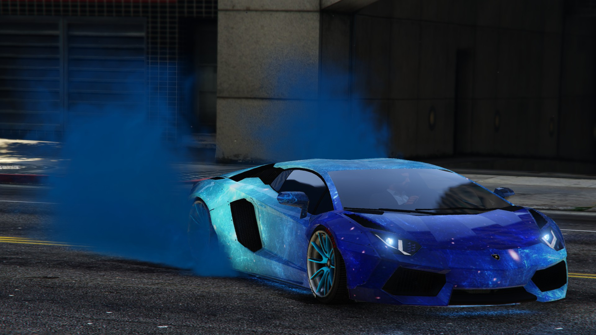 Blue Galaxy Livery For Lamborghini Aventador Liberty Walk