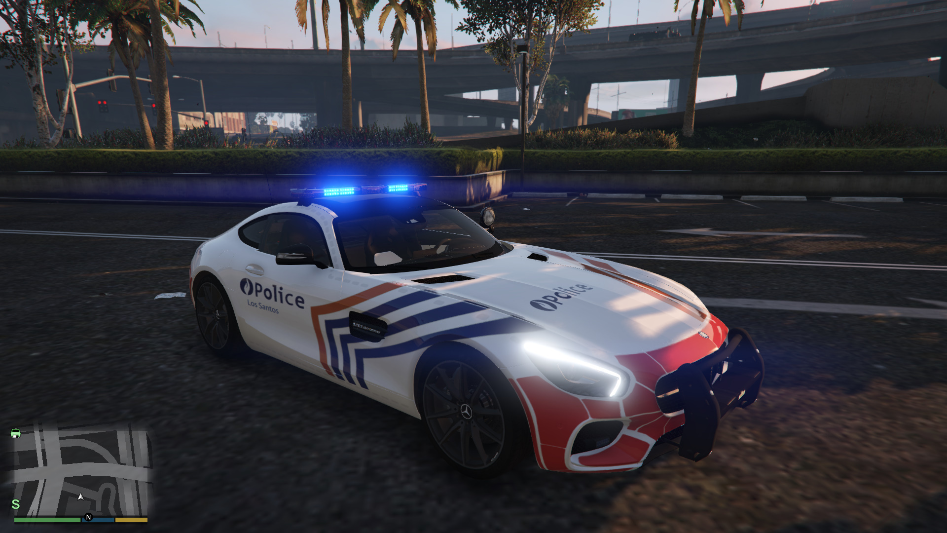 belgian police mercedes benz amg gt 4k gta5. Black Bedroom Furniture Sets. Home Design Ideas