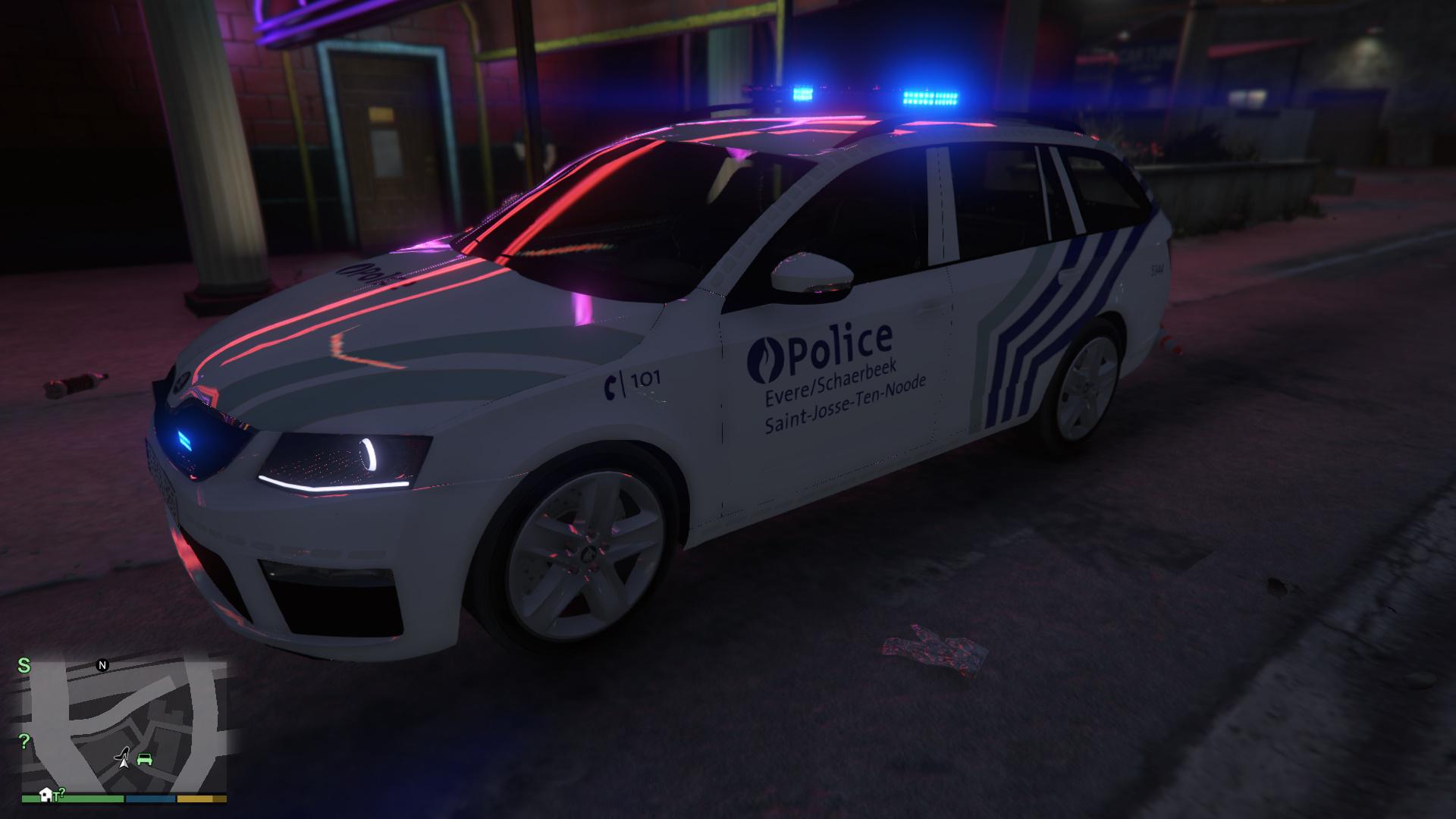 belgian police koda octavia vrs break gta5. Black Bedroom Furniture Sets. Home Design Ideas