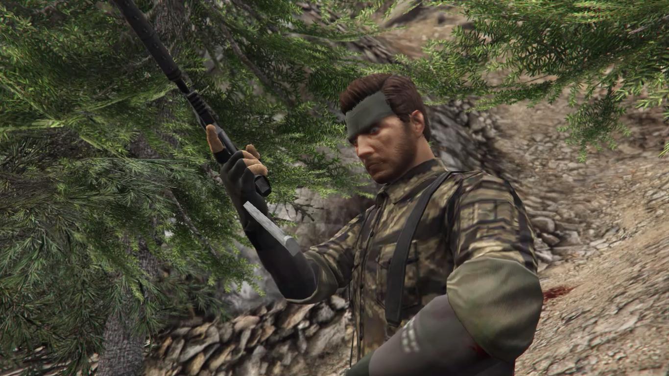 GTA 4 Solid Snake VS Roman Bellic - YouTube
