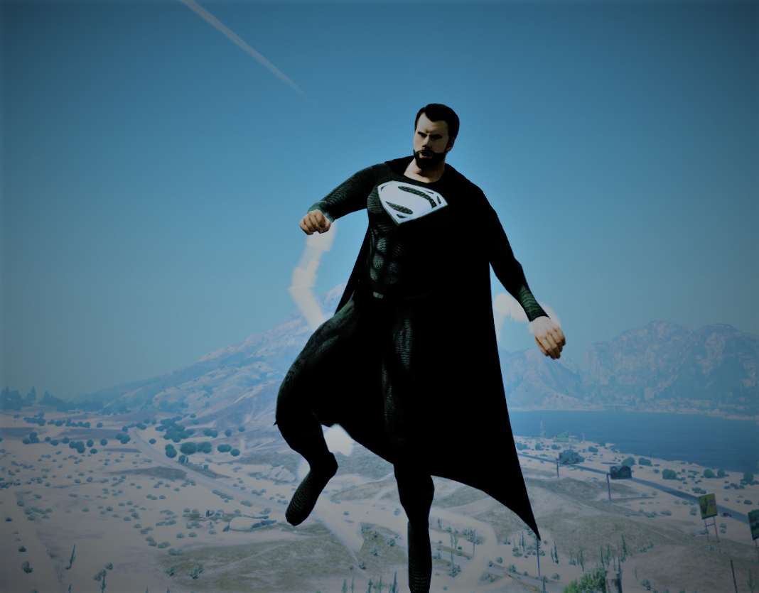 Black Superman Suit [Add-On Ped] - GTA5-Mods.com