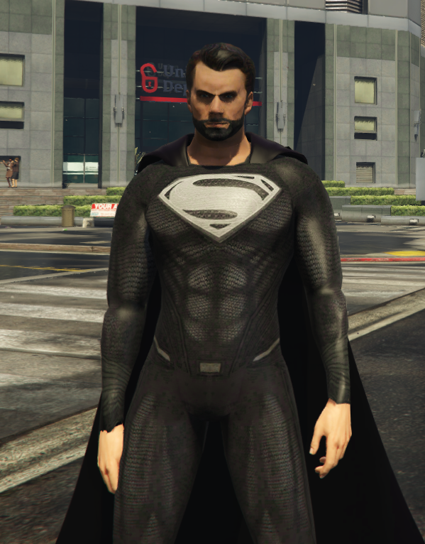 Download The Image Of The Evil Superman With Black Suit: Black Superman Suit [Add-On Ped]