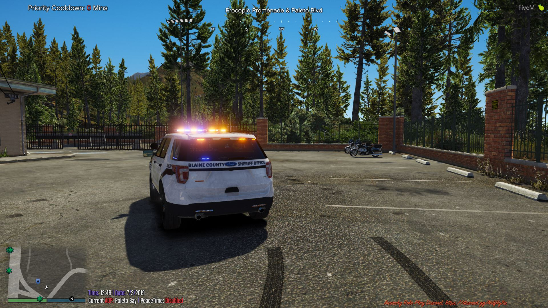 Blaine County Sheriff's Office BnW Small Skin Pack [NON-ELS