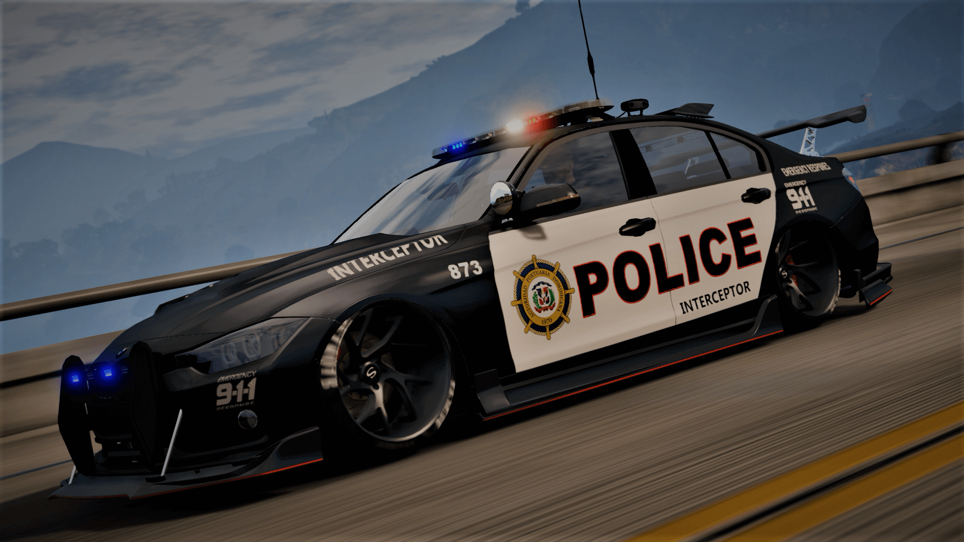 Bmw Exterior: BMW 3 F30 Police Crazy Exterior [Add-On] [ELS] [Template