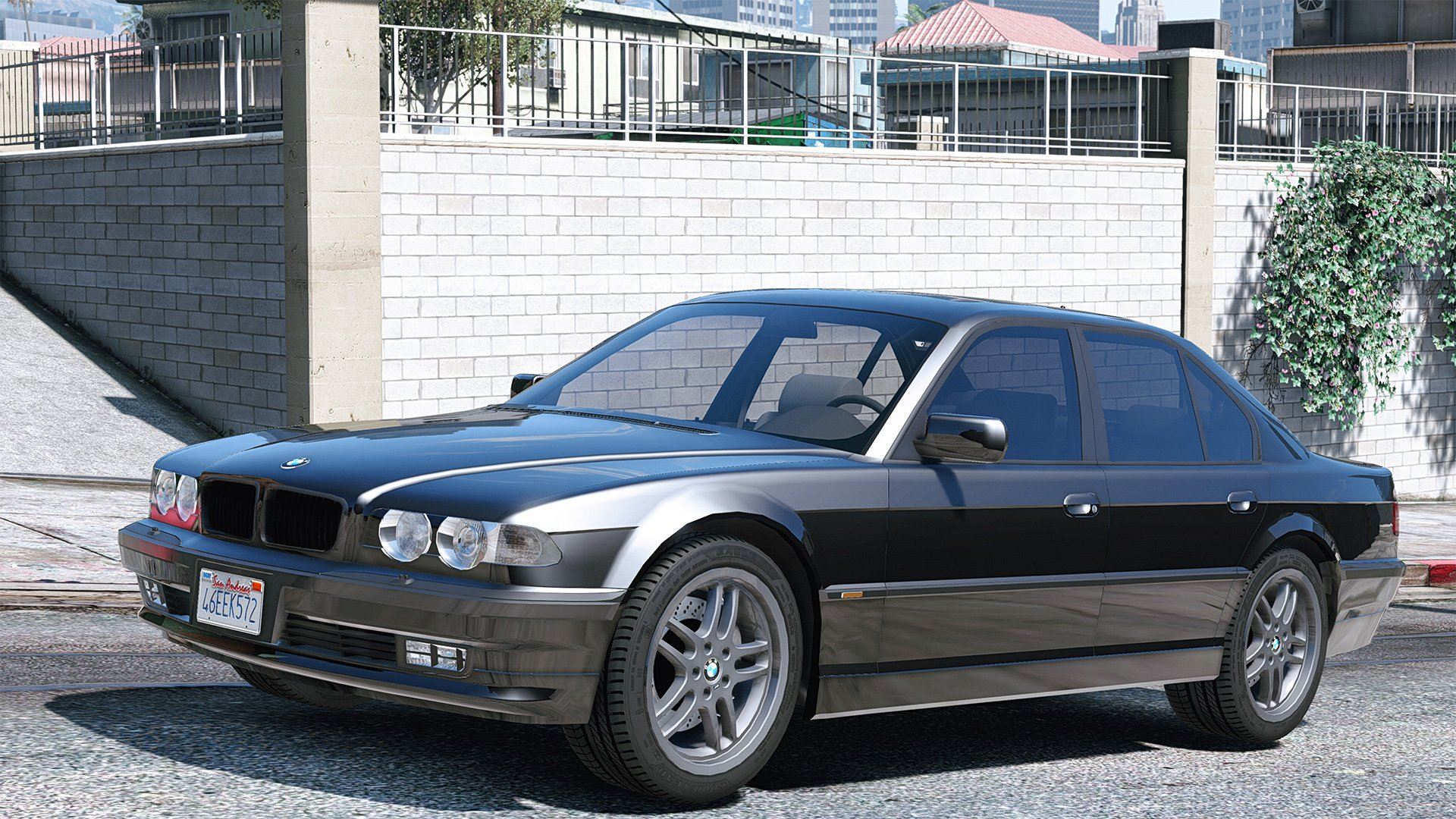 bmw 740i e38 shadow line add on replace gta5. Black Bedroom Furniture Sets. Home Design Ideas