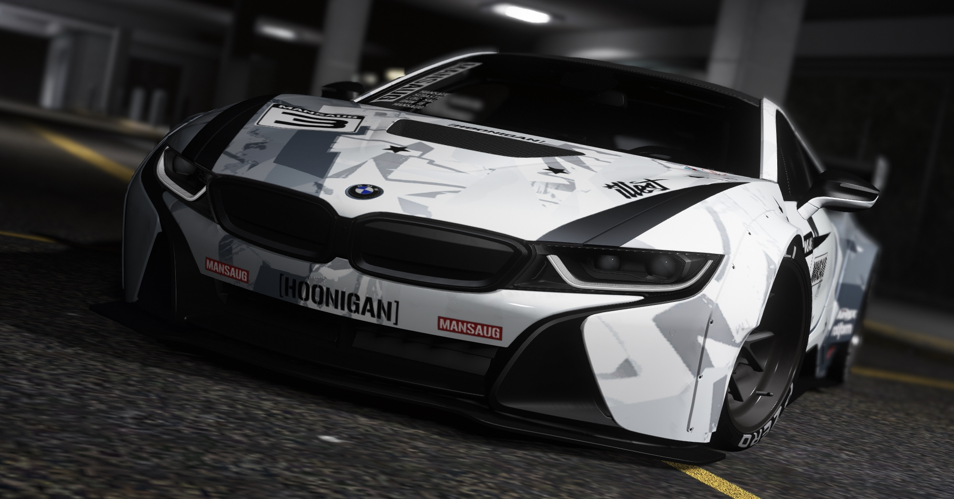 Bmw I8 Coupe Mansaug Replace Addon Template Multi Livery