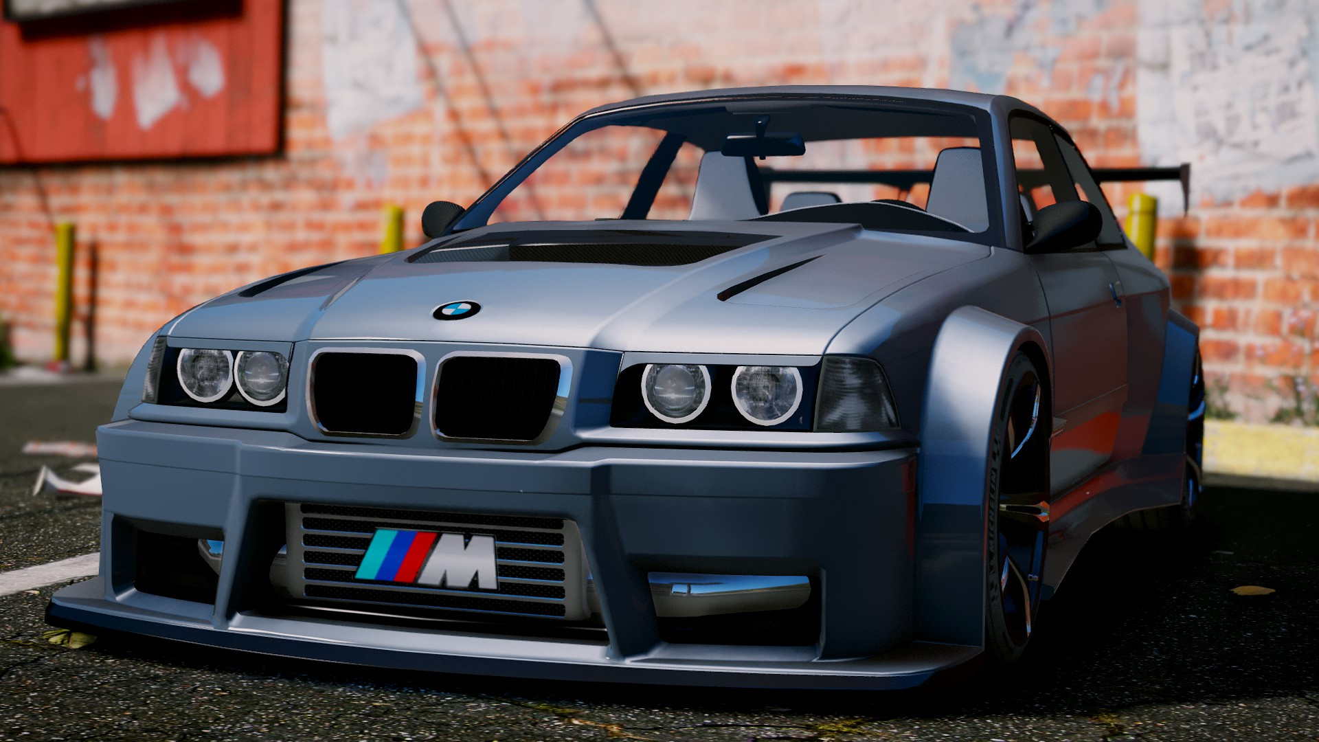 bmw m3 e36 v8 biturbo add on tuning gta5. Black Bedroom Furniture Sets. Home Design Ideas