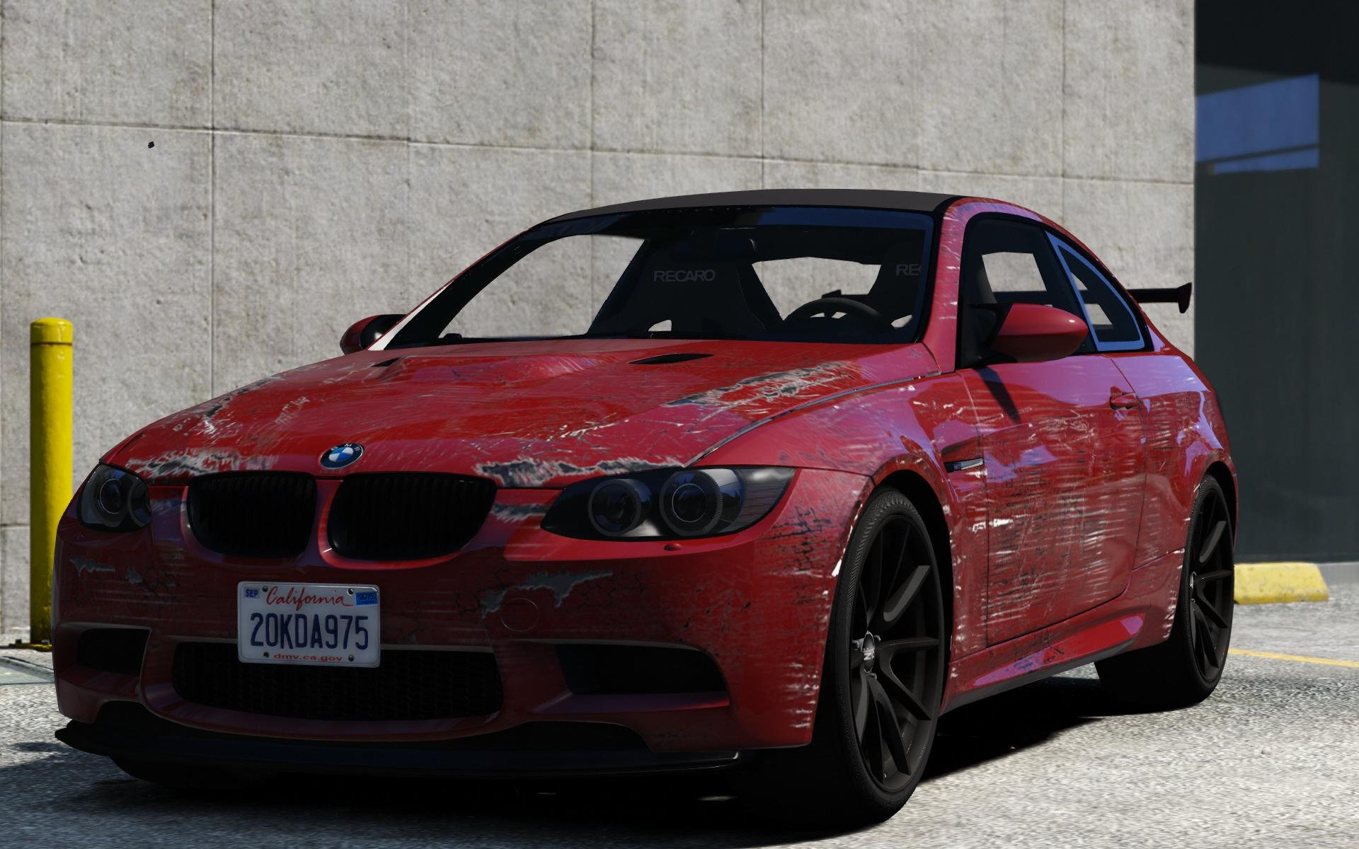 bmw m3 e92 gts scratchy art car gta5. Black Bedroom Furniture Sets. Home Design Ideas