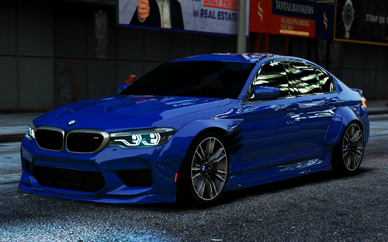 Bmw M5 F90 2018 Libertywalk Amp Stock Add On Gta5 Mods Com