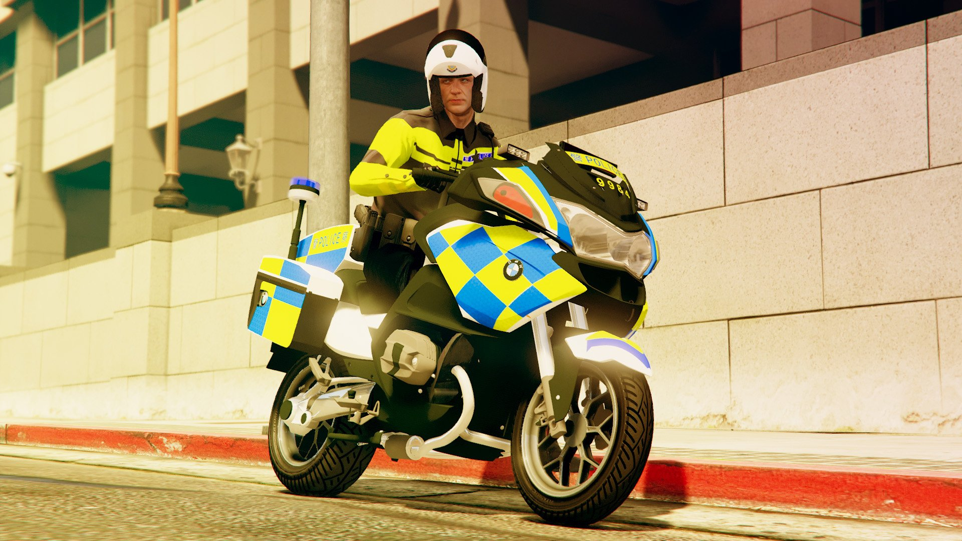 Bmw R1200rt Hong Kong Police Skin Gta5 Mods Com