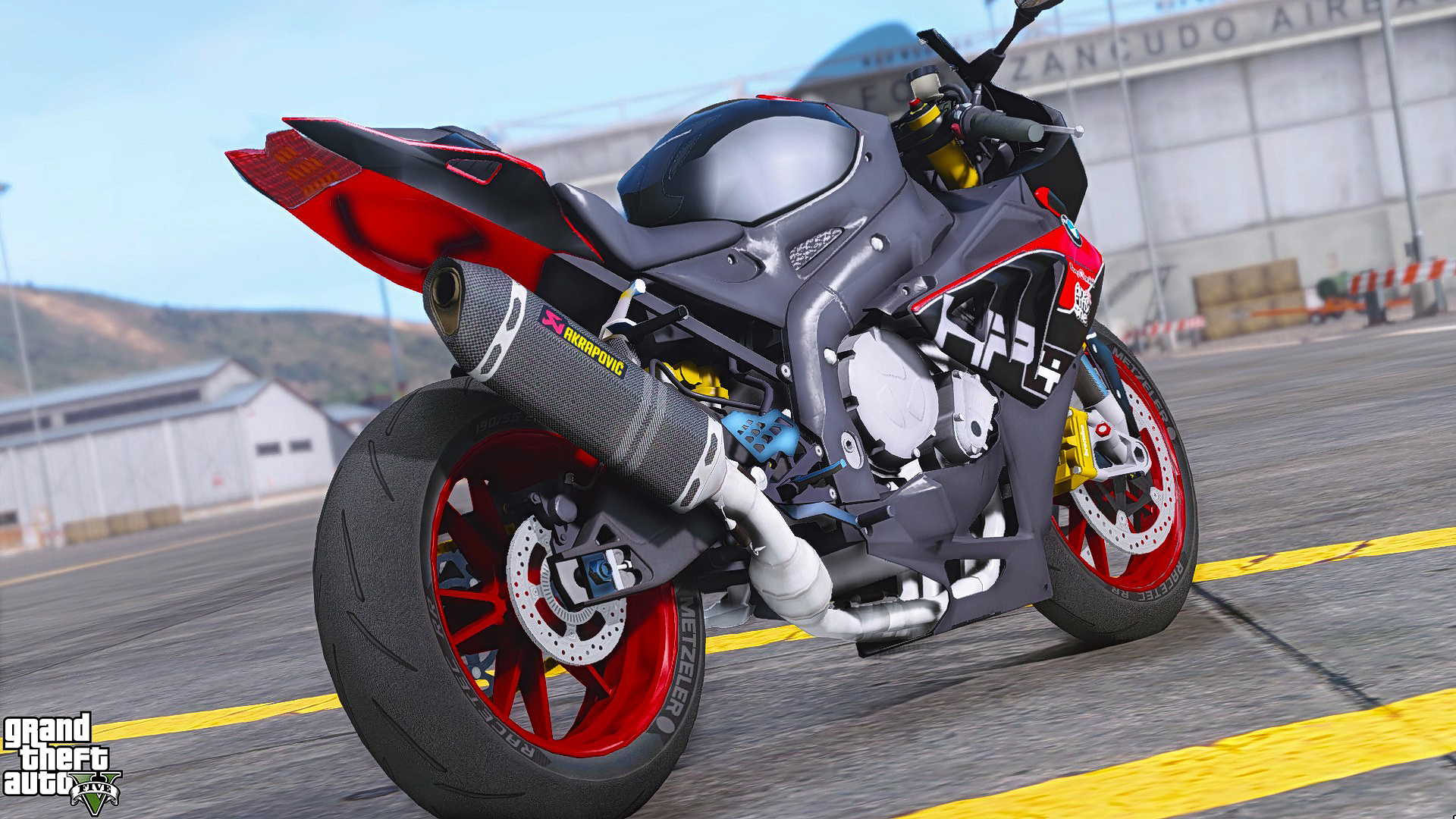 bmw s1000rr graffiti skin black and red hp4 gta5. Black Bedroom Furniture Sets. Home Design Ideas