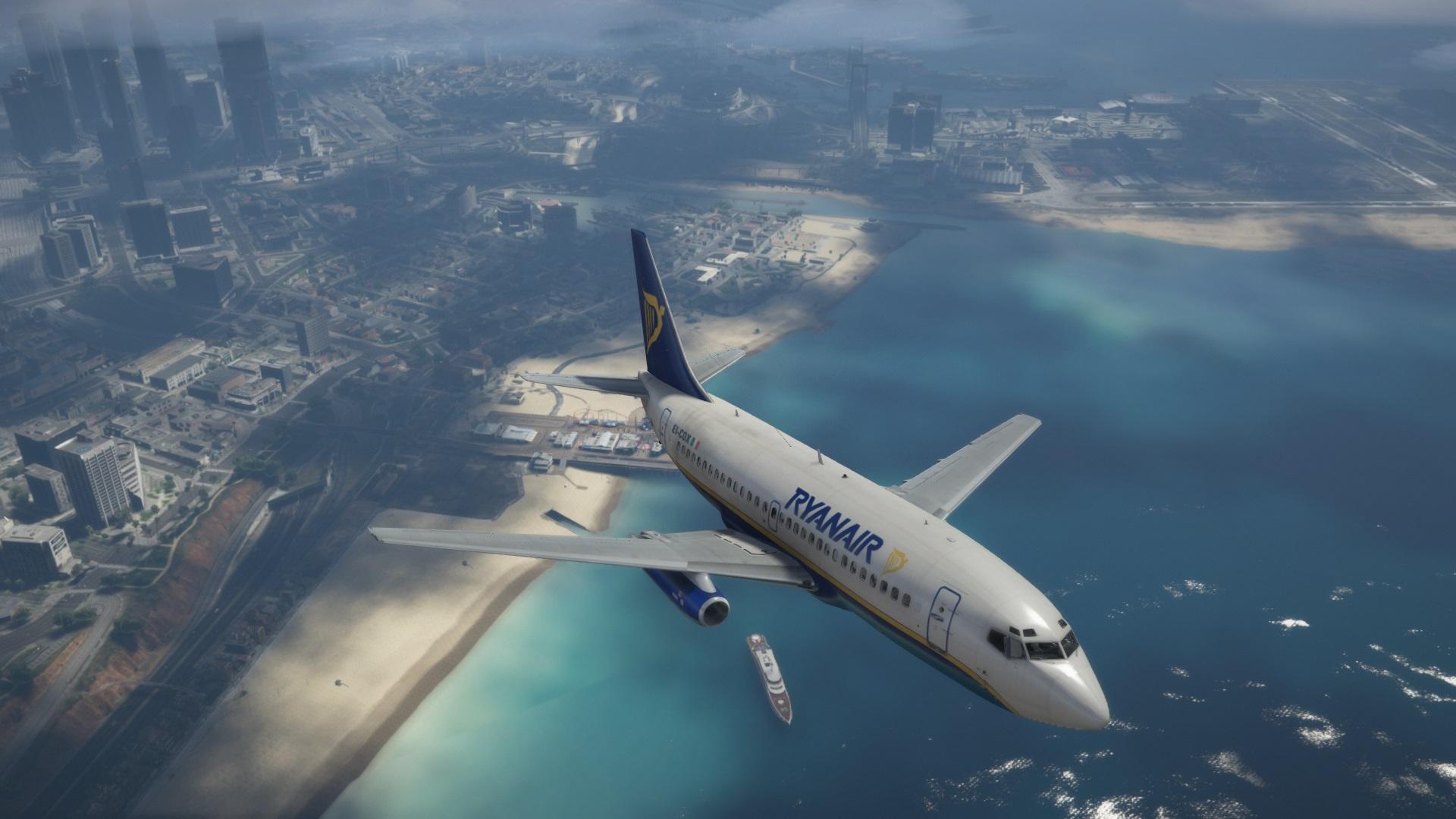 Boeing 737-200 Ryanair Livery - GTA5-Mods com
