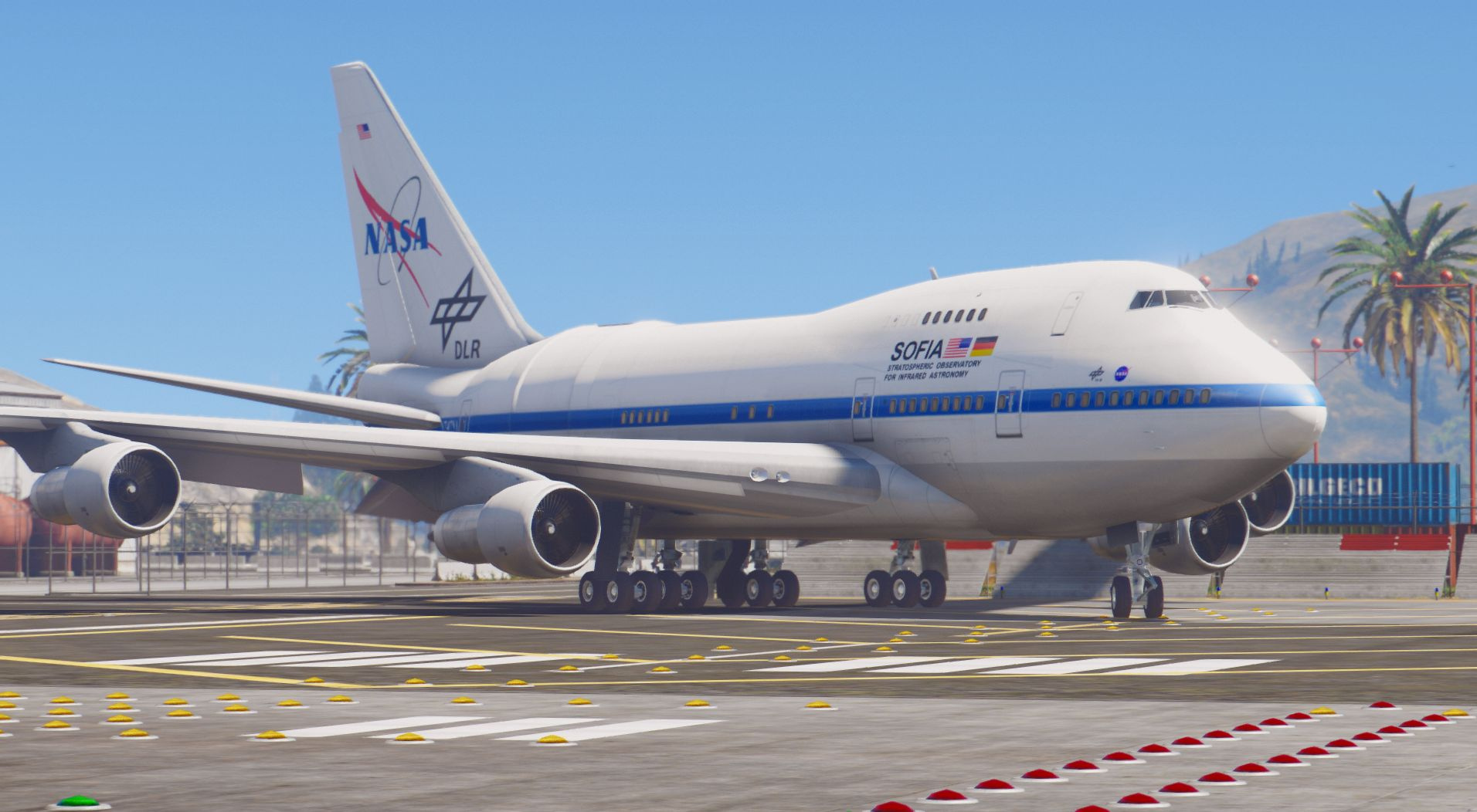 boeing 747 sofia  flying telescope   add-on