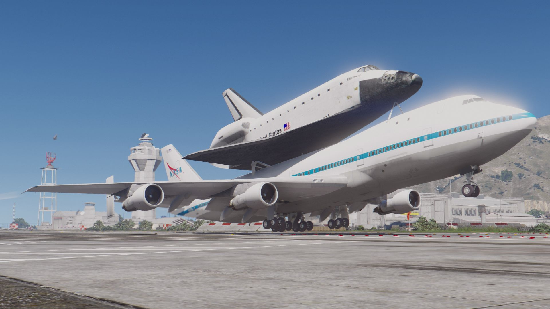 boeing 747 space shuttle carrier  add-on