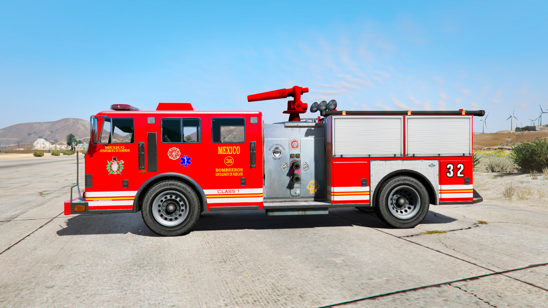 Mexican Fire Engine Bomberos M 233 Xico Gta5 Mods Com