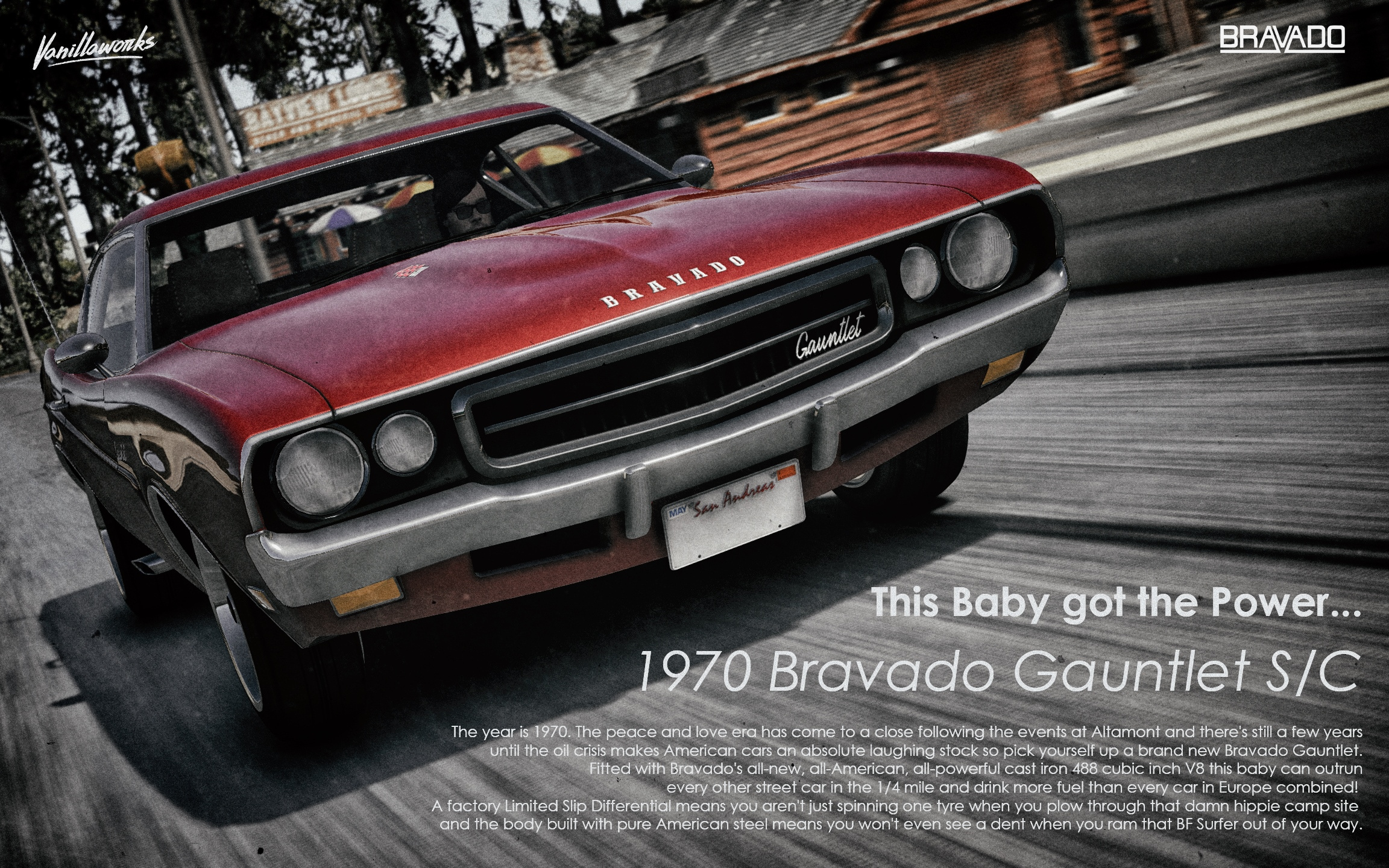 Bravado Gauntlet Classic [Add-On | Tuning | Liveries | Template ...