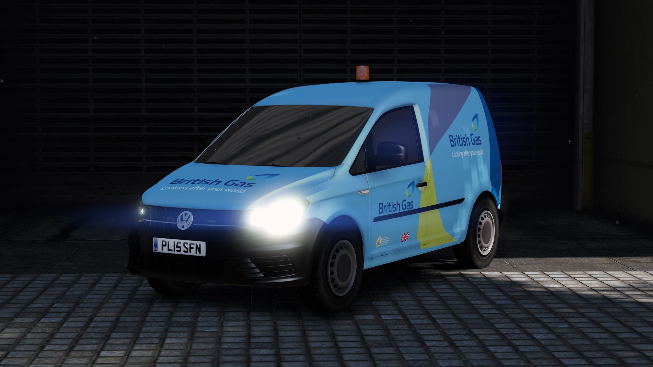 British Gas Volkswagen Caddy Skin - GTA5-Mods.com