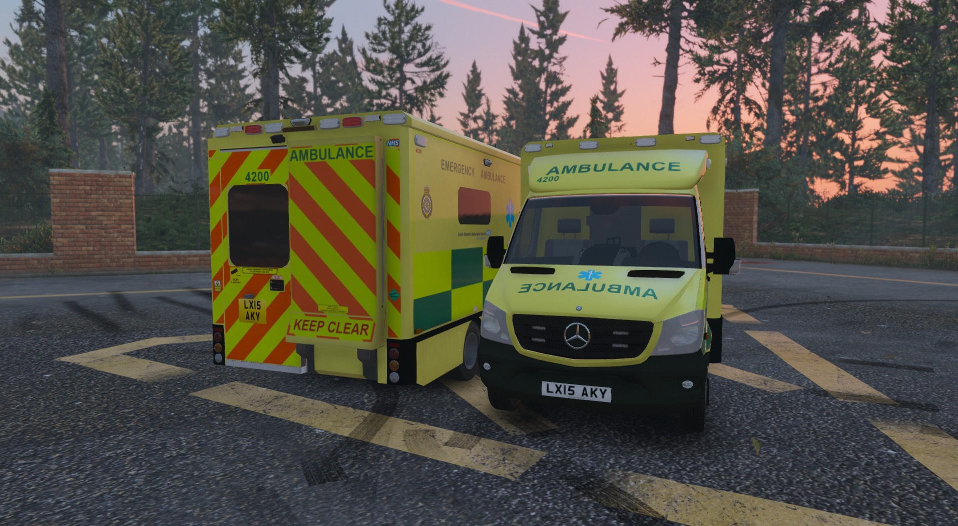 british south western ambulance service mercedes sprinter. Black Bedroom Furniture Sets. Home Design Ideas