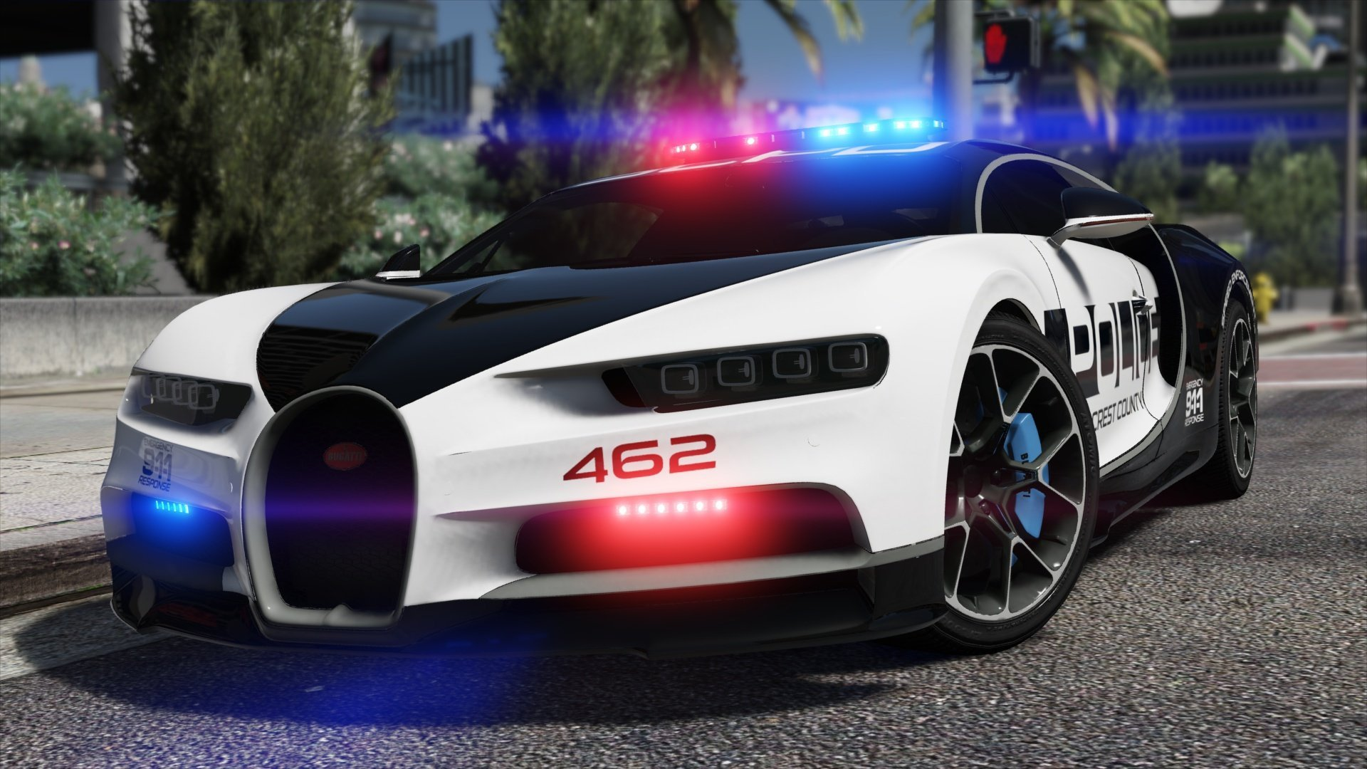 Bugatti Chiron | Hot Pursuit Police [Add-On / Replace | Template ...