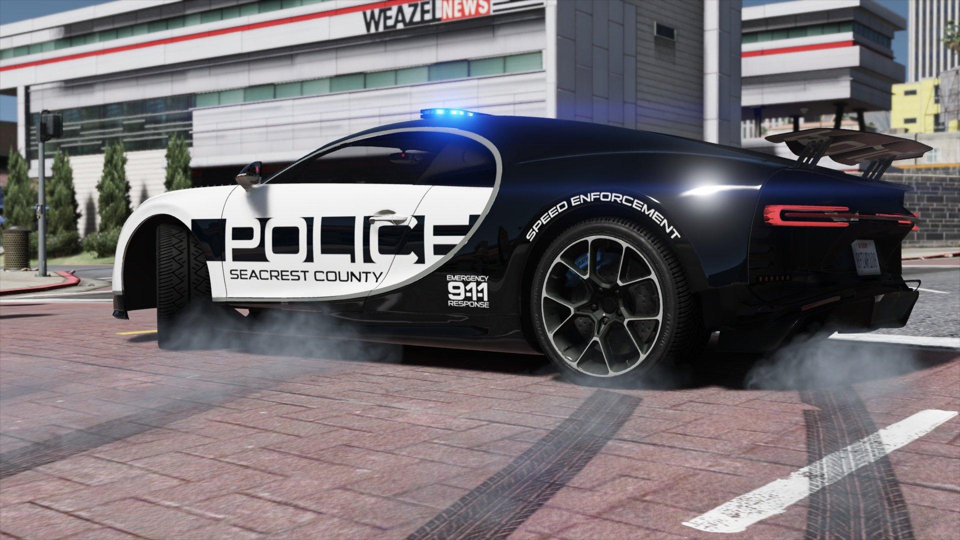 Bugatti Chiron Hot Pursuit Police Add On Replace