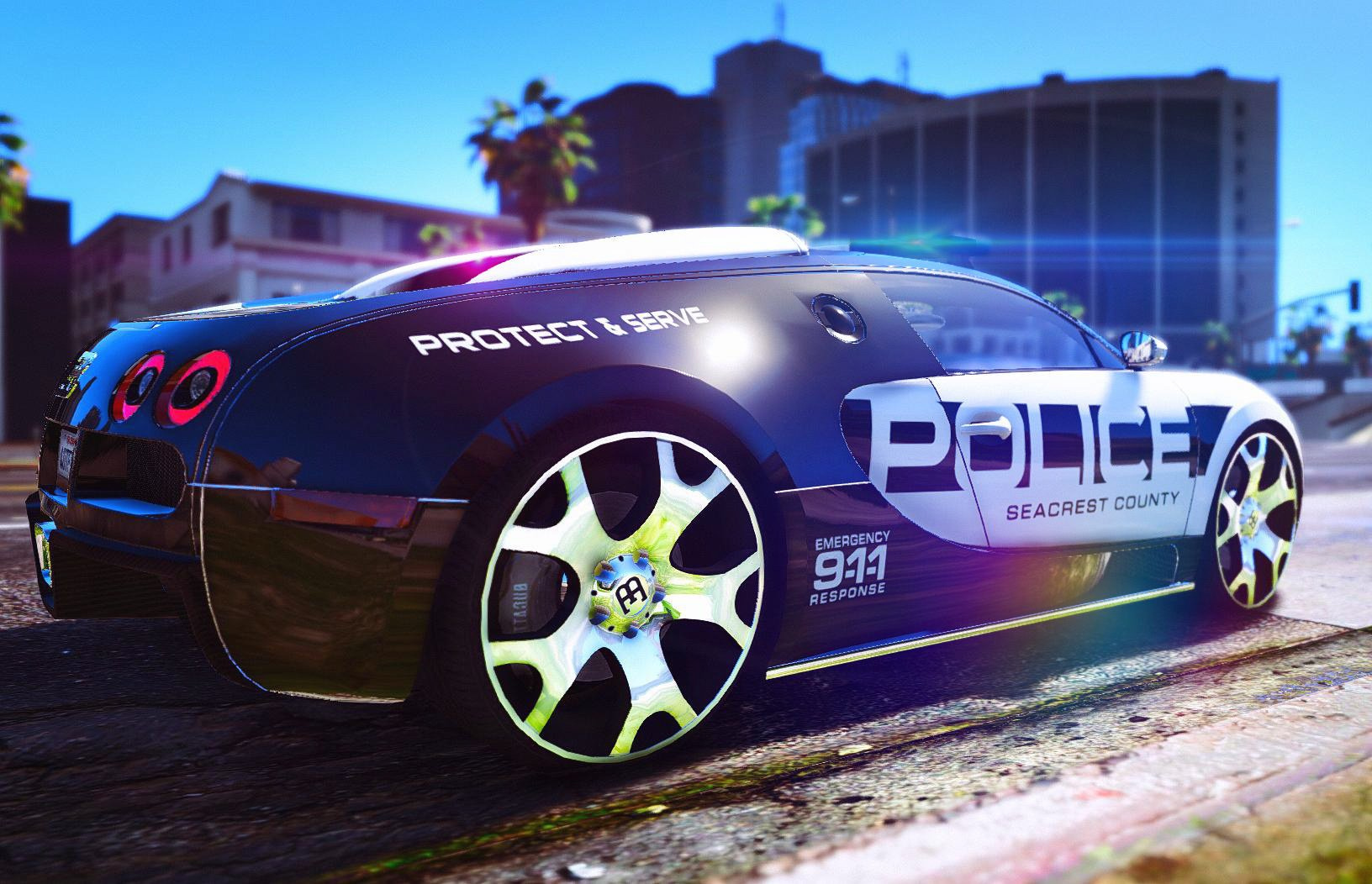 bugatti veyron police gta5. Black Bedroom Furniture Sets. Home Design Ideas