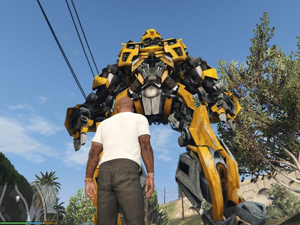 Bumblebee Transformers AddOn Ped  GTA5Modscom
