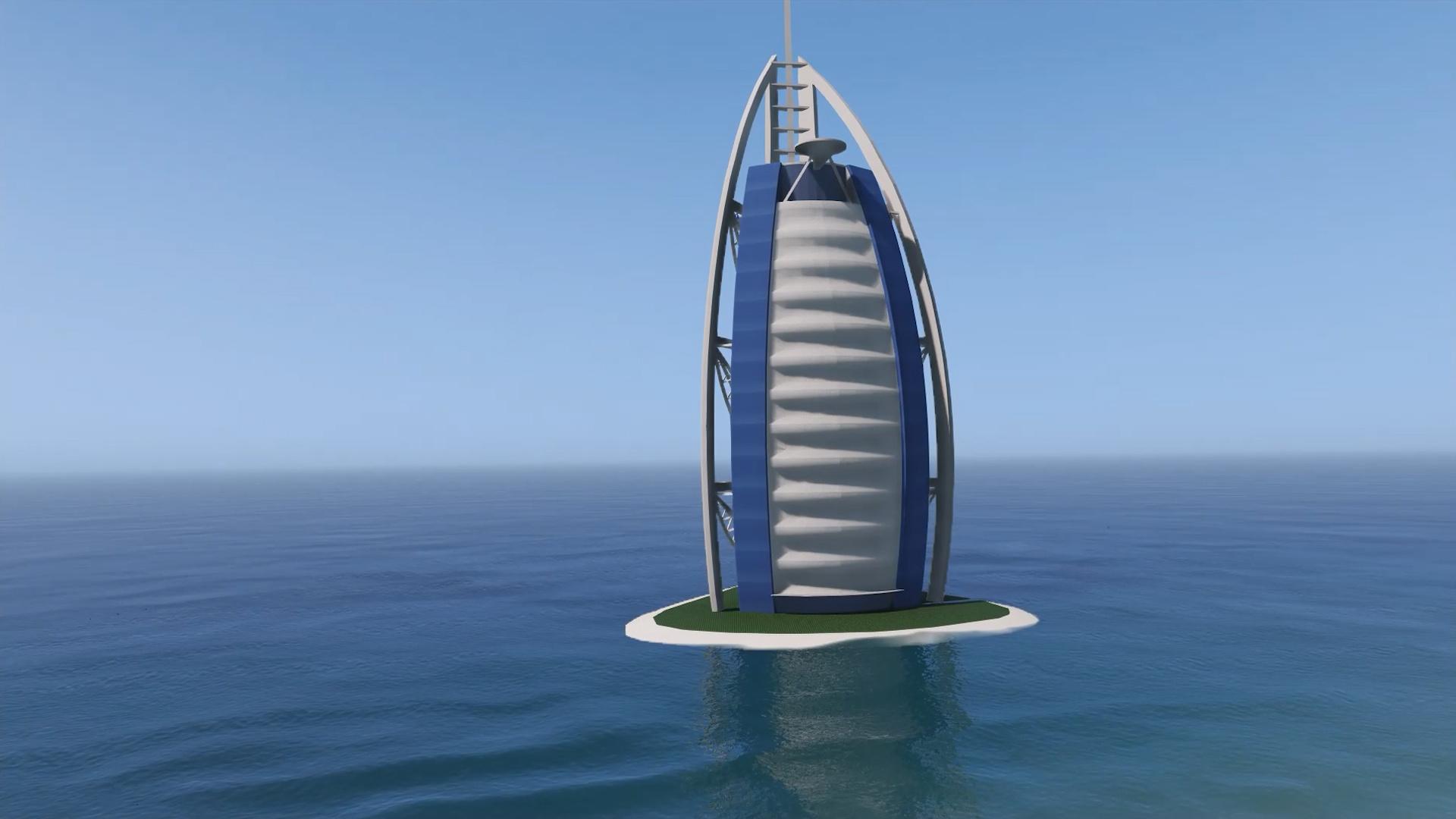 Burj Al Arab Hotel Dubai Emissive Add On Replace