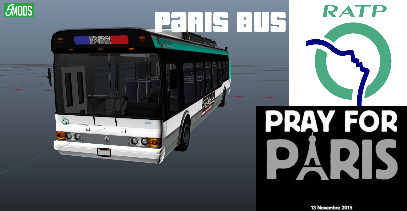 ratp paris bus gta5. Black Bedroom Furniture Sets. Home Design Ideas