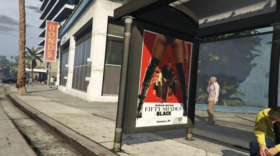 bus stop movie poster pack gta5modscom
