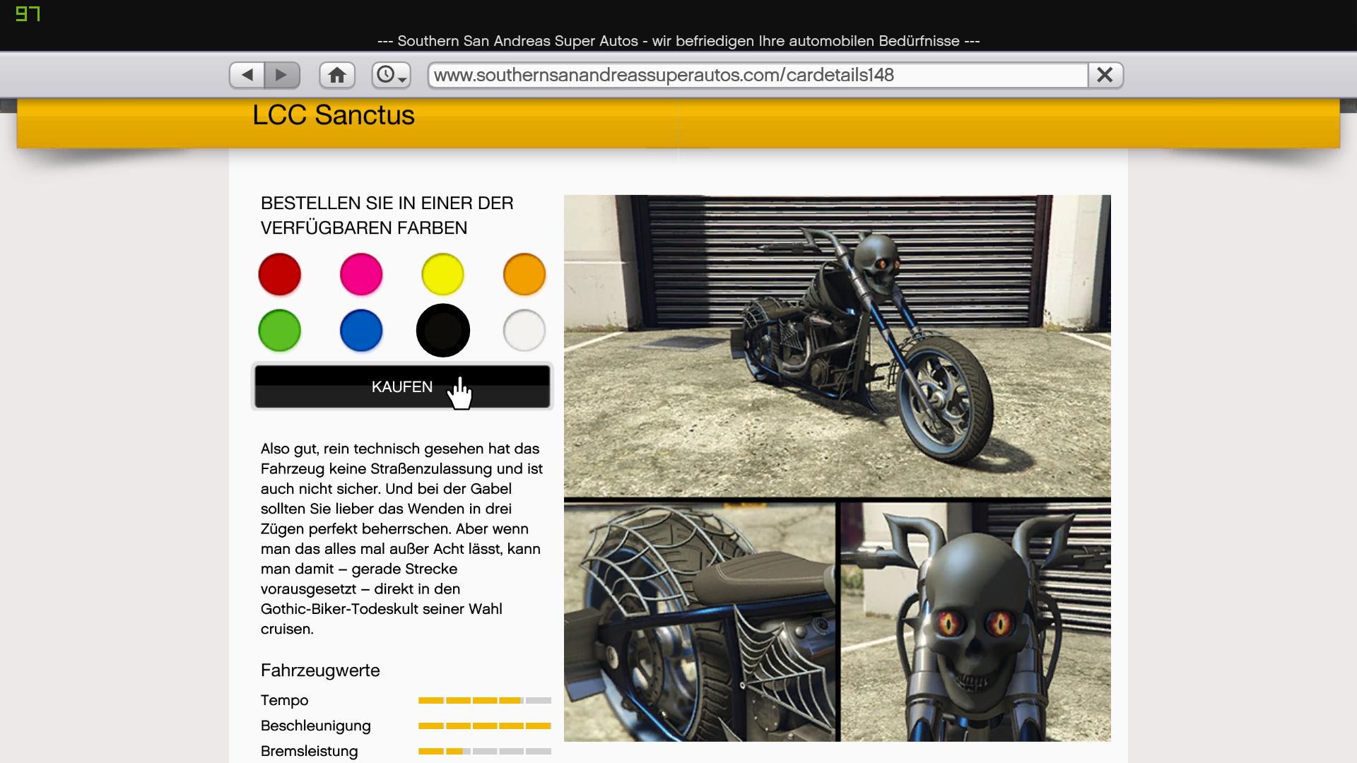 Buy Online/Special Vehicles in SP via in-game website - GTA5