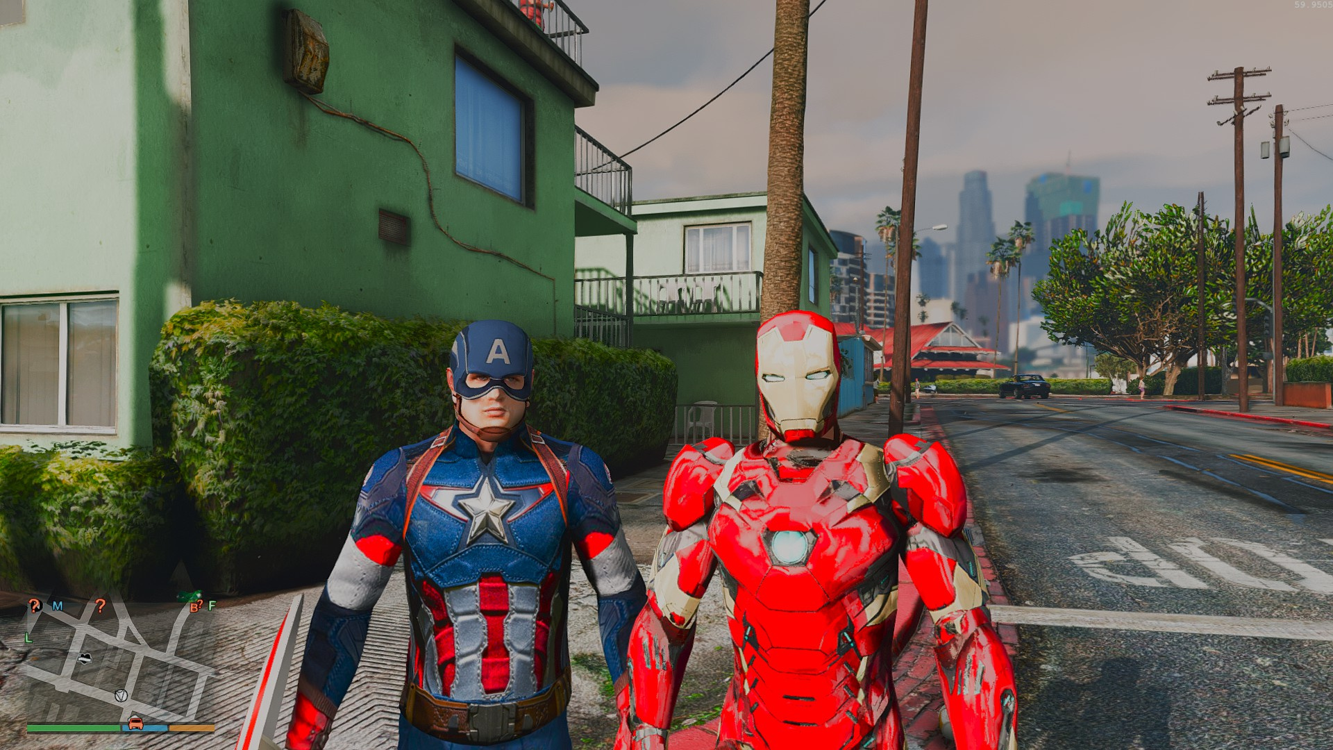 Captain America: Civil War Iron Man Mk 46 Armor + Captain