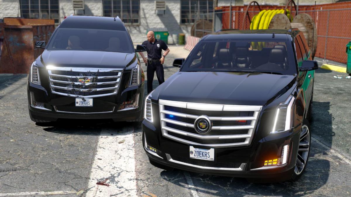 Cadillac Escalade Fbi Petrol Vehicle 2015 Replace Gta5