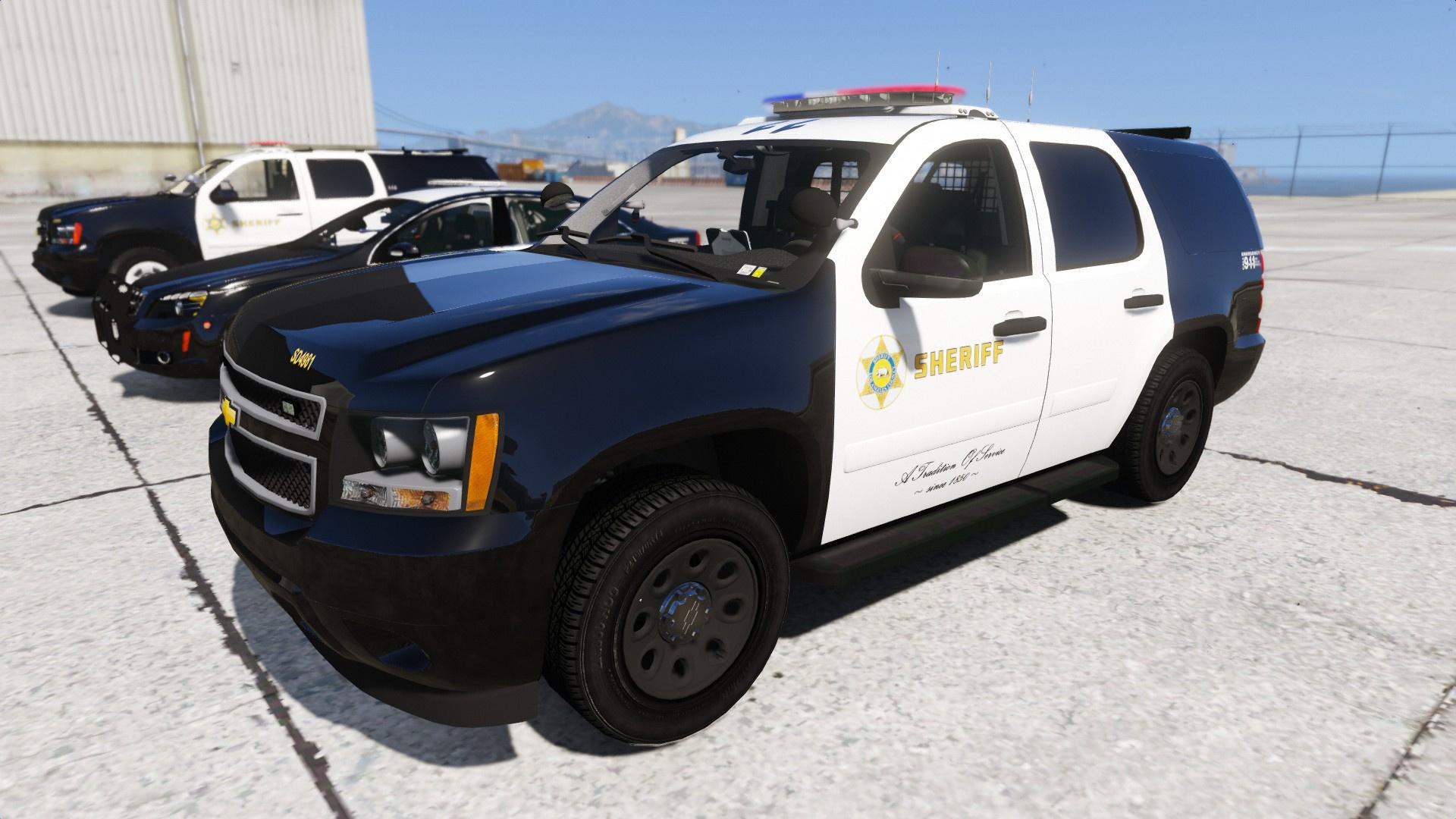 Chevrolet Suburban Lax Airport Police For Gta San Andreas: California Mega Pack