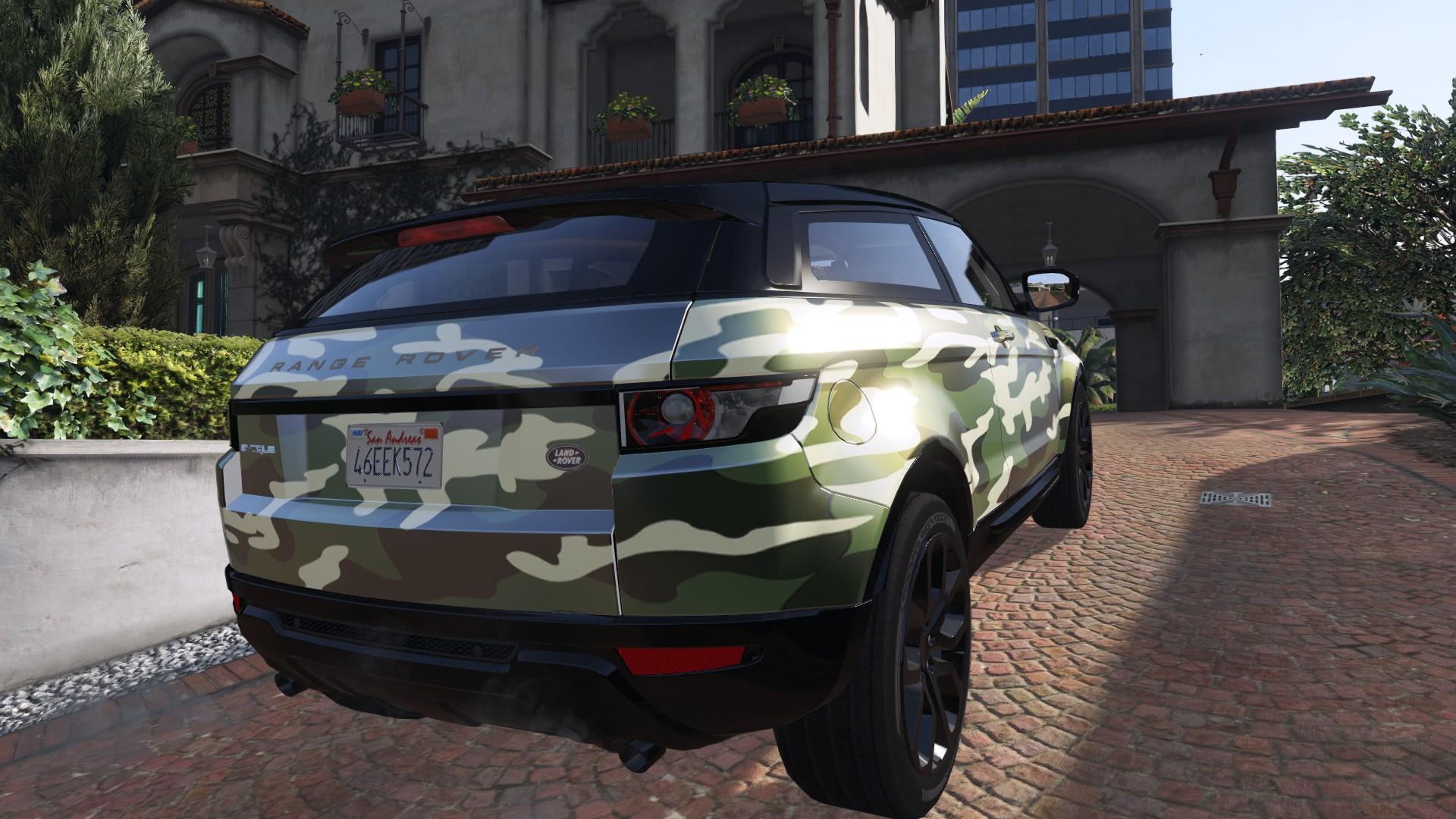 camouflage skull livery for range rover evoque 2 versions gta5. Black Bedroom Furniture Sets. Home Design Ideas