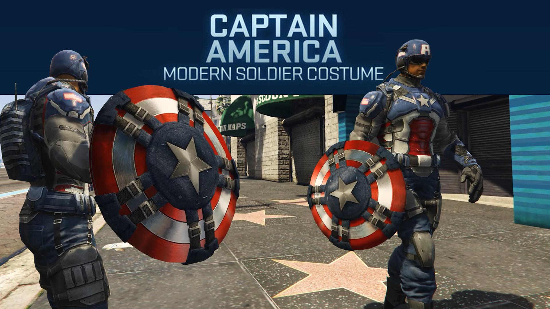 Captain America Modern Soldier Shield Add On Ped Gta5 Mods Com