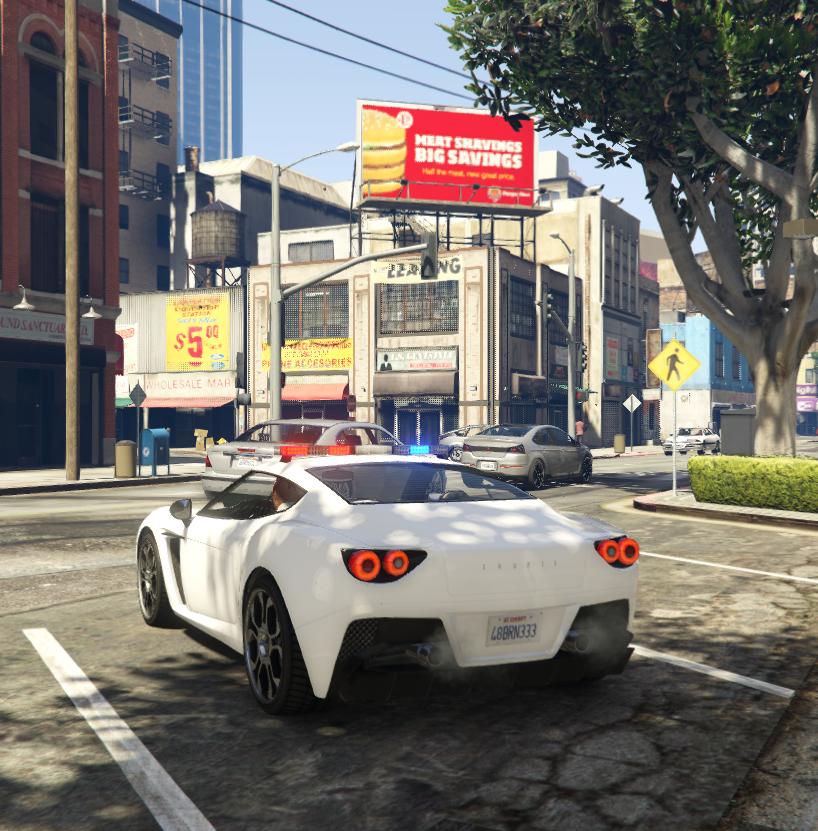 Carbonizzare Police Car [SP Replace